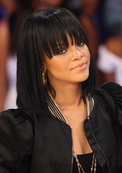 Rihanna Bob Haircut Remi Hair Capless Wigs 12 Inches Rihanna Hairstyles Short Hair Styles Hair Styles