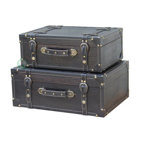 Quickway Imports Antique Style Suitcase With Straps & Reviews | Wayfair