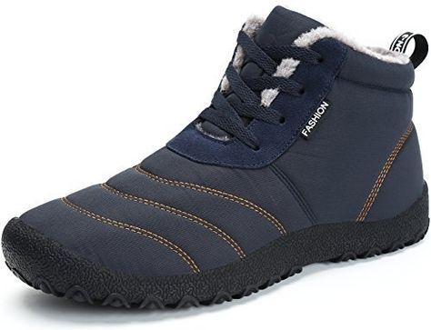 3da8a64c974e3f SAGUARO Homme Femme Chaussures De Neige Bottes Hiver Bottines Fourrées  Chaudes Boots Lacets Plates  fete  promotion  gratuit  noel
