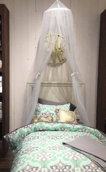 Ebay Sponsored Pottery Barn Canopy Drape White Sheer Curtain Nib