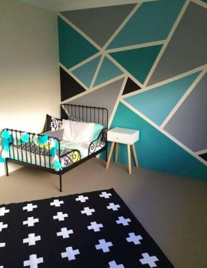 Wallpaper Wall Coverings Bedroom Design Big Boy Bedrooms Geometric Wall Paint