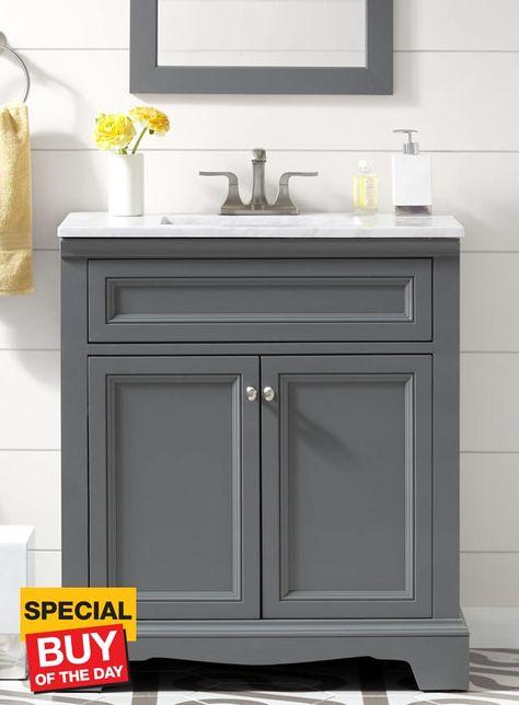 30 Windsor Park Grey Vanity, 30 Wide Bathroom Vanity