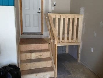 Image Result For Garage Landing And Stair Ideas Garage Stairs Garage Steps Garage Entryway
