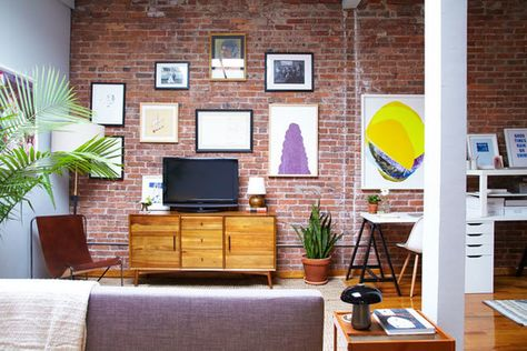 Wall Done Right - A Gallerist's Industrial, Artful Brooklyn Home - Photos