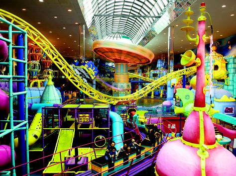 West Edmonton Mall Galaxyland - The world's largest indoor amusement park features more than 24 spectacular rides and play areas for all ages.
