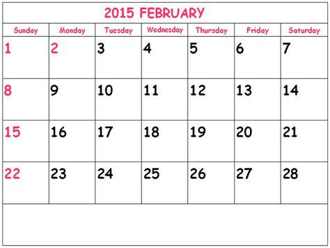 Great Free February 2015 Calendar Template Photos Free 2015