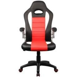 Vcm My Office Nicalo Gaming Chair Red Synthetic Leather Chair Gaming Leather Nicalo Office Red Synthet In 2020 Gaming Chair Game Room Design Rustic Office Chairs