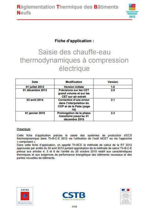 Déclaration du0027installation de PAC gaz à absorption aérothermique