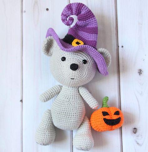 Amigurumi witch hat pattern. Crochet pattern. Amigurumi Halloween ...   485x473