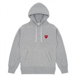 SWEATSHIRTS PLAY CDG in 2019 | Grey sweatshirt, Hooded