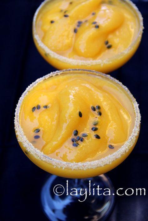 Margarita De Mango Y Maracuyá Coctel De Maracuya Margarita De Mango Receta De Mojito