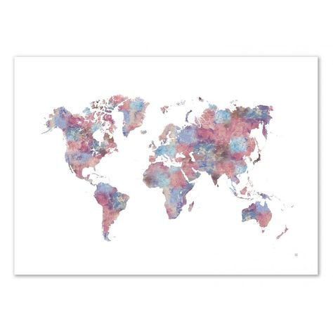 Poster D Art Painted World Map Laura O Connor Affiches D Art