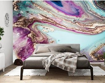 Coronado Wall Mural Removable Wallpaper Peel And Stick Wallpaper Nursery Wall Decal Wall Mural Large Scale Abstract Gold Wallpaper Pink Marble Wallpaper Gold Wallpaper Living Room Blue Wallpapers