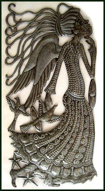 105 best Haitian Metal Art Angel Designs - Steel drum metal art ...