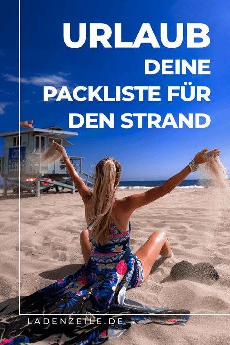 Wir haben deine Packliste für den Strand? Was muss mit in die Tasche, damit du schön entspannen kannst? Neben einem praktischen Outfit für den Strand findest du in unserer Strand-Packliste weitere Accessoires, die du nicht vergessen solltest. Sonnenschutz, eine Flasche, um genug zu trinken und Strandaccessoires wie ein Klappstuhl und Strandmatten sorgen für Gemütlichkeit am Strand. Schau jetzt auf LadenZeile vorbei und plane deinen Urlaub am Strand! #strandurlaub #packliste #strandpackliste