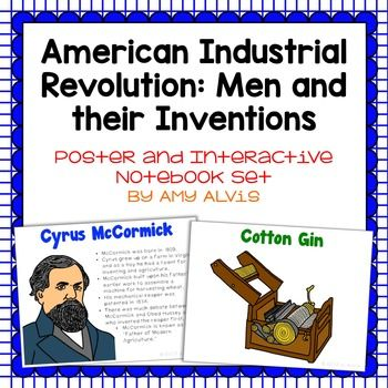 American Industrial Revolution Poster And Interactive Notebook Inb