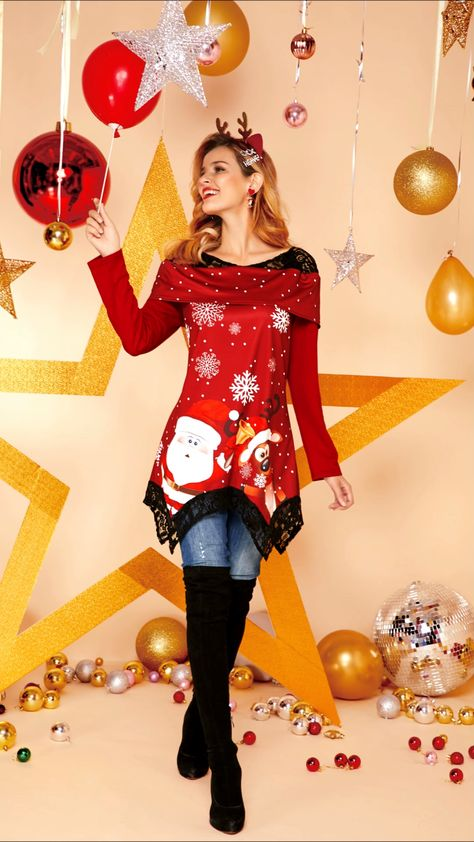 Special festivals require special clothes to celebrate. #christmas #top #casual