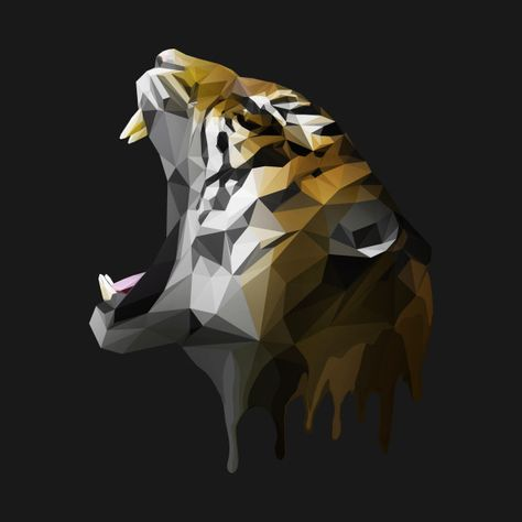 Polygon Tiger by axseru