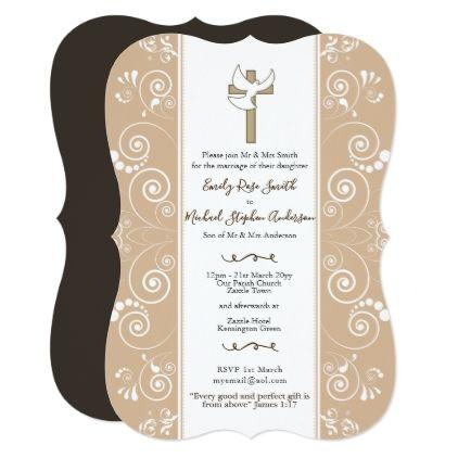 Blush Catholic Wedding Invites Dove Bible Verse Zazzle Com Wedding Invitations Catholic Wedding Vintage Wedding Invitations