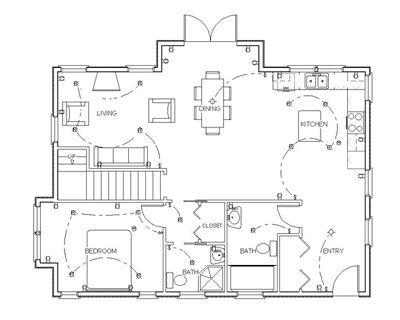 How To Draw Floor Plans Plano Electrico Planos Arquitectonicos Dibujos De Planos