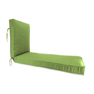 Solid 68 Boxed Edge Chaise Lounge Chair Cushion In Sunbrella