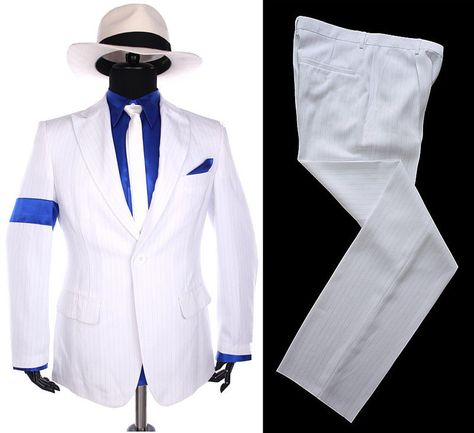 Classic MJ Michael Jackson Smooth Criminal Stripe Suit Blazer Full Set 7363732d0