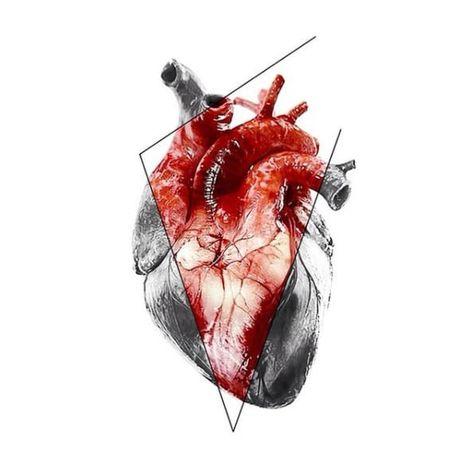 Anatomical heart design by Vlad Tokmenin. VladTokmenin anatomicalheart aesthetic alternative contemporary digitalart