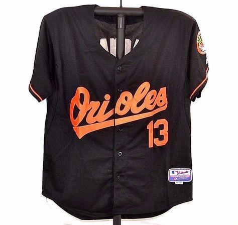 b1c4e4904d5 Baltimore Oriole Baseball Jersey  13 Machado Black Orange Stitched Majestic  50