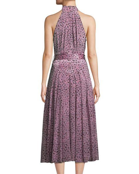 9742b0b358fb Diane Von Furstenberg Halter-Neck Floral Belted Dress