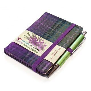 Heather Tartan Notebook Tartan Mini Notebooks Pen Design