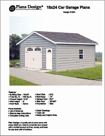 18 X 24 House Plans Luxury 18 X 24 Car Garage Project Plans Design Door Plan Garage Plans Free Garage Plans Detached