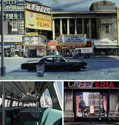 Best Photorealist Art Images On Pinterest Artists Built - Astonishing photorealistic paintings of places seen through wet car windshields