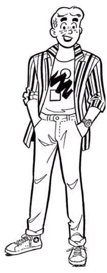 ARCHIE ANDREWS Coloring Page, Archie Comic Publications https://www ...