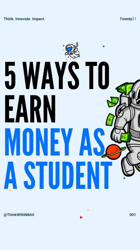 5 Way To Earn Money as a Student