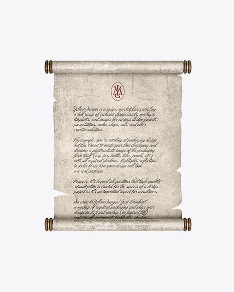 Paper Scroll Front View In Stationery Mockups On Yellow Images Object Mockups Mockup Free Psd Free Psd Mockups Templates Free Mockup