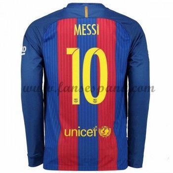Camisetas De Futbol Barcelona Messi 10 Primera Equipación Manga Larga 2016- 17 d68a8e1af78