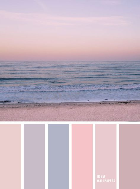 Mauve sky inspired color palette { Pastel color scheme } evening sky color palette  #color #colorpalette