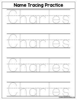 Custom Name Tracing Worksheet - Download | Create Custom Printables ...