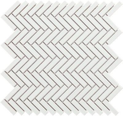 Mosaico Tech Chevron Blanco Para Suelo Y Pared De 31x29cm Leroy Merlin Mosaicos Dormitorios Estilo Bohemio Chevron