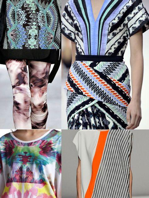 fashion trend inspiration forecast trend 2015 2016 2014 summer spring print textile design designer zig zag colour  vogue elle modern repeat...