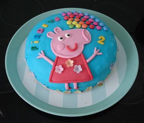 Peppa Pig Raspberry Buttercreme Birthday Cake Peppa Wutz Himbeer Buttercreme Geburtstagskuchen Kuchen Kindergeburtstag Geburtstagskuchen Kuchen