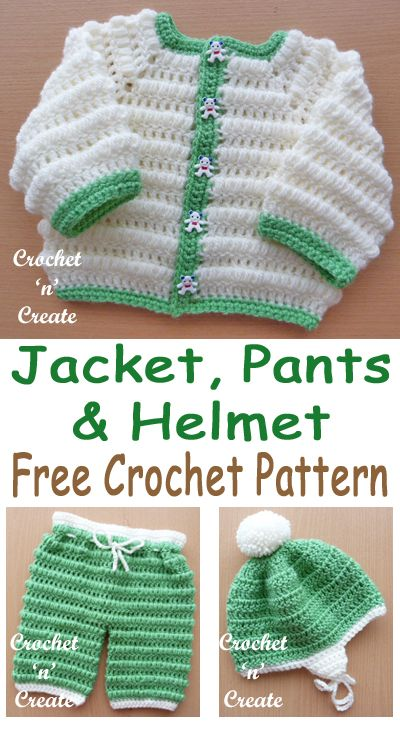 FREE Crochet Boys Puff Stitch Set Pattern, cute outfit, make for bringing home gift. #crochetncreate #freebabycrochet #babyboycrochet