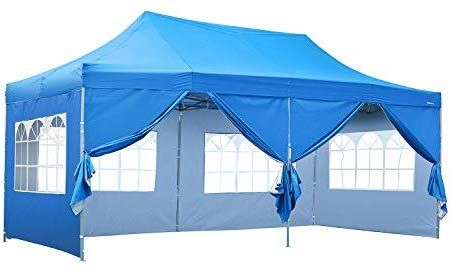 Koolwoom 10x20 Ft Pop Up Canopy Carport Party Tent Folding Heavy Duty Gazebo With Removable Sidewalls And Wheeled Bag Waterproof Gazebo Tent Gazebo Party Tent