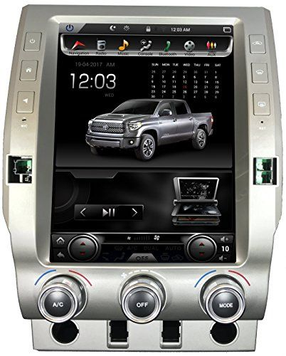 Toyota 2014 2018 Tundra Navigation System Gps In Dash 12 1 Inch Large Touch Screen Tesla Style Vertical Android Radio Car Stereo Full Hd Multimedia Player 2gb R Android Radio Navigation System Tesla