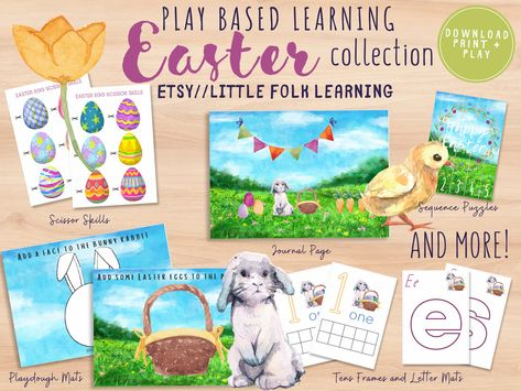 Easter Mini Collection // Preschool Printable // Preschool Activity // Montessori // Toddler Learning Activity
