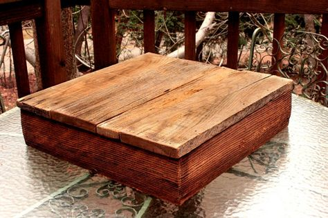 Rustic Barn Wood 20X20X4 cake stand by BackCountryBuilt on Etsy, $45.00