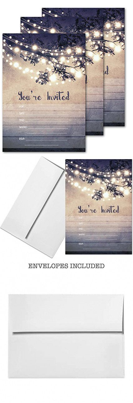 25 Outdoor Lights You Re Invited Party Invitations 5x7 Card Stock With Envelopes Party Invitations Invitations Youre Invited