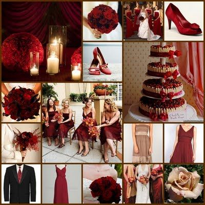 Champagne And Red Wine Wedding Color You To Have Red And