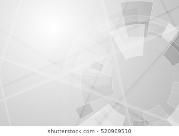 Grey Geometric Technology Background With Gear Shape Vector