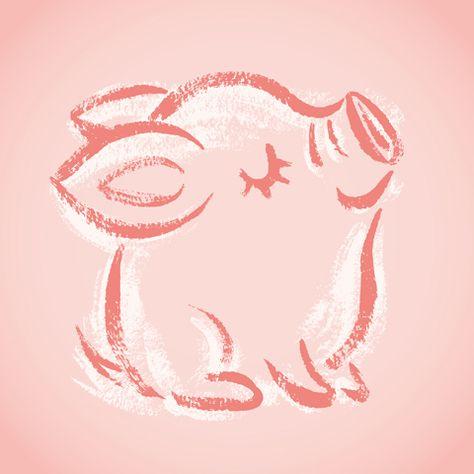 год свиньи рисунок на окне могут доставить